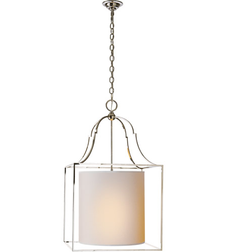 Visual Comfort CHC2167PN-NP E. F. Chapman Gustavian 3 Light 20 inch Polished Nickel Foyer Pendant Ceiling Light photo