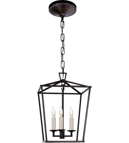 Visual Comfort CHC2175AI E. F. Chapman Darlana 3 Light 10 inch Aged Iron Foyer Pendant Ceiling Light photo