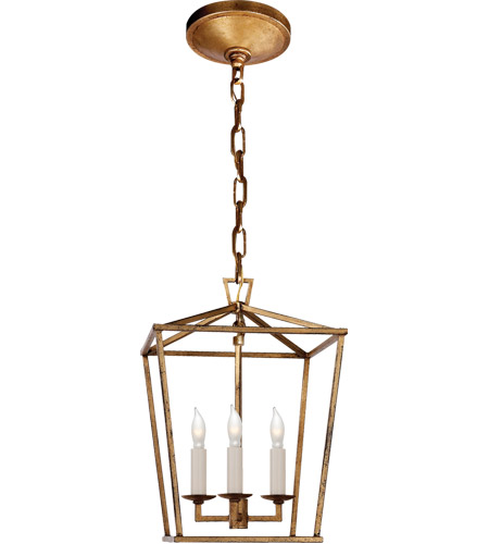 Visual Comfort CHC2175GI E. F. Chapman Darlana 3 Light 10 inch Gilded Iron Foyer Pendant Ceiling Light photo