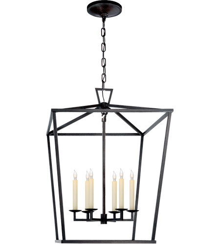 Visual Comfort CHC2176AI E. F. Chapman Darlana 6 Light 24 inch Aged Iron Foyer Pendant Ceiling Light photo