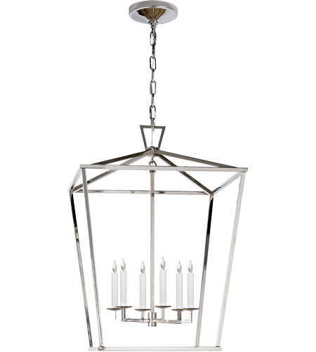 Visual Comfort CHC2176PN E. F. Chapman Darlana 6 Light 24 inch Polished Nickel Foyer Pendant Ceiling Light  photo