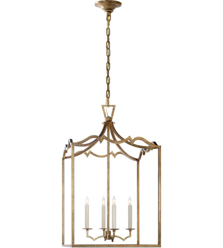Visual Comfort CHC2181GI E. F. Chapman Darlana 4 Light 17 inch Gilded Iron Foyer Pendant Ceiling Light photo