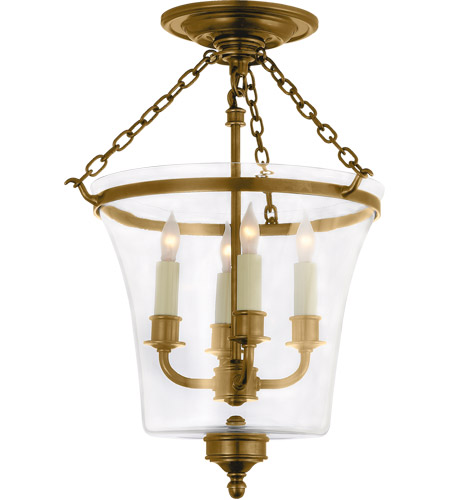 Visual Comfort E.F. Chapman Sussex 4 Light Semi-Flush in Antique-Burnished Brass CHC2209AB photo