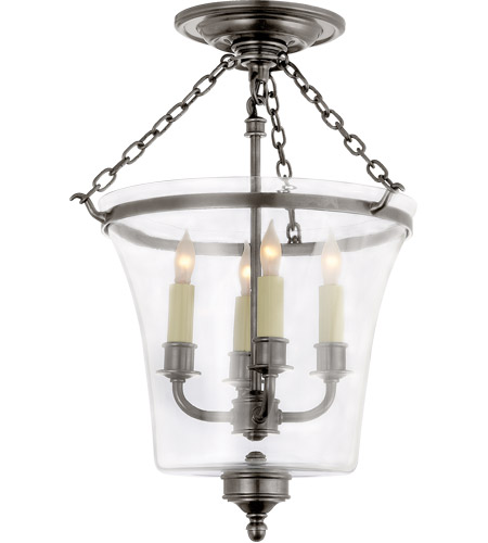 Visual Comfort CHC2209AN E. F. Chapman Sussex 4 Light 12 inch Antique Nickel Semi-Flush Ceiling Light photo