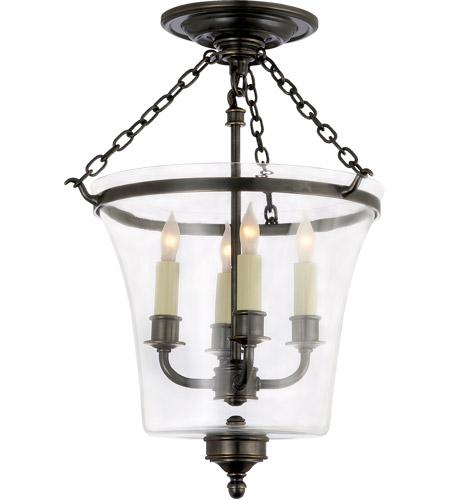 visual comfort chc2209bz e f chapman sussex 4 light 12 inch bronze semiflush ceiling light