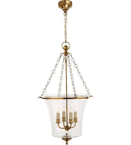 Visual Comfort CHC2210AB E. F. Chapman Sussex 4 Light 19 inch Antique-Burnished Brass Foyer Pendant Ceiling Light photo