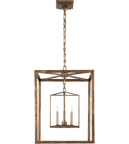 visual comfort chc2217gi e f chapman osborne 3 light 18 inch gilded iron with wax foyer pendant ceiling light