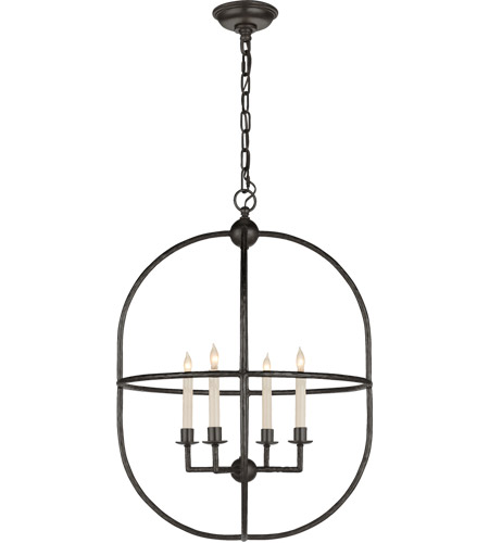 Visual Comfort CHC2224AI E. F. Chapman Desmond 4 Light 21 inch Aged Iron Foyer Lantern Ceiling Light photo