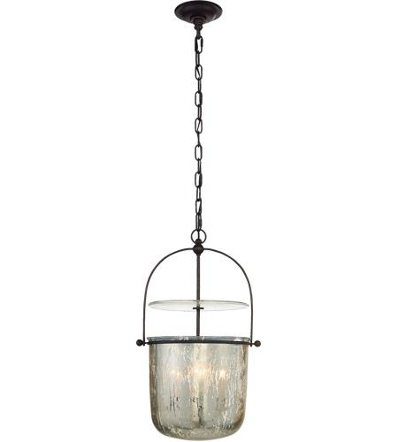 Visual Comfort Chc2269ai Mg E F Chapman Lorford 4 Light 14 Inch Aged Iron Bell Lantern Ceiling Light Small
