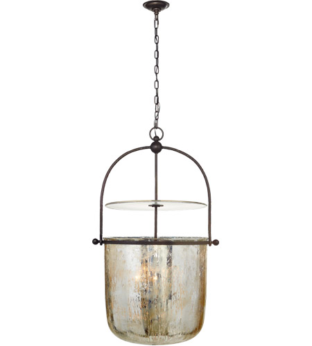Visual Comfort CHC2271AI-MG E. F. Chapman Lorford 4 Light 25 inch Aged Iron Bell Lantern Ceiling Light, Large photo