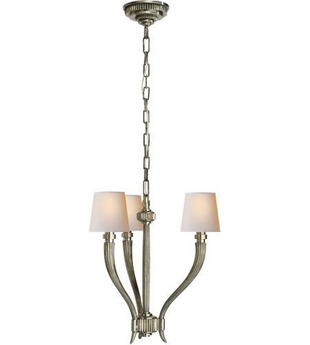 Visual Comfort Antique Nickel Chandeliers