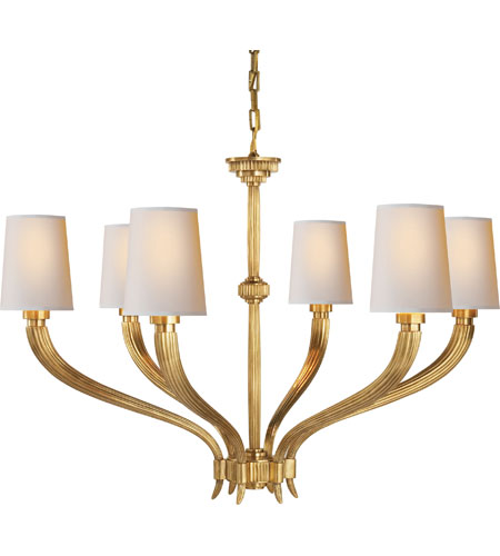 Visual Comfort CHC2462AB-NP E. F. Chapman Ruhlmann 6 Light 35 inch Antique-Burnished Brass Chandelier Ceiling Light in Antique Burnished Brass photo
