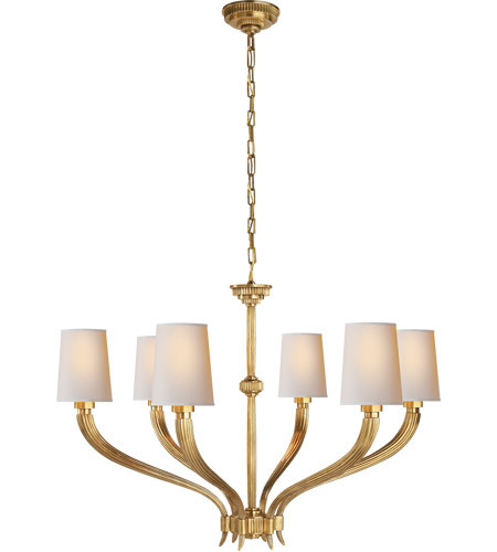 Visual Comfort CHC2462AB-NP E. F. Chapman Ruhlmann 6 Light 35 inch Antique-Burnished Brass Chandelier Ceiling Light photo