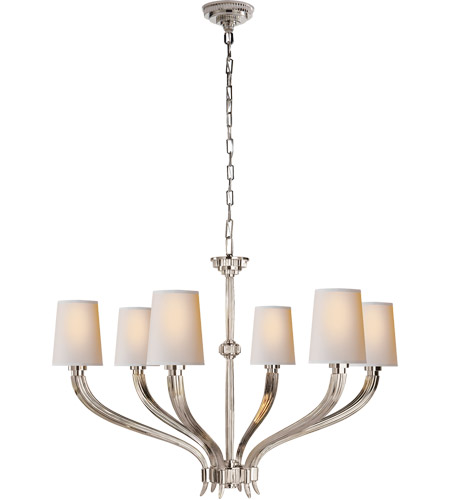 Visual Comfort CHC2462PN-NP E. F. Chapman Ruhlmann 6 Light 35 inch Polished Nickel Chandelier Ceiling Light photo