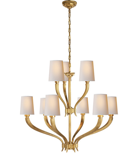 Visual Comfort CHC2465AB-NP E. F. Chapman Ruhlmann 9 Light 35 inch Antique-Burnished Brass Chandelier Ceiling Light photo
