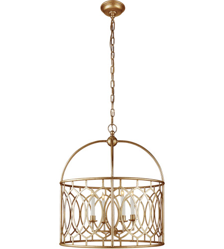 Visual Comfort CHC2535GI E. F. Chapman Marquise 6 Light 23 inch Gilded Iron Foyer Pendant Ceiling Light photo