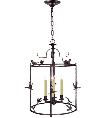 Visual Comfort CHC3108R E. F. Chapman Diego 4 Light 16 inch Hand Painted Rust Finish Foyer Pendant Ceiling Light photo