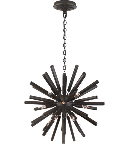 Visual Comfort CHC3111AI E. F. Chapman Lawrence 20 Light 20 inch Aged Iron Sputnik Chandelier Ceiling Light photo