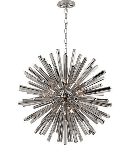 Visual Comfort CHC3112PN E. F. Chapman Lawrence 20 Light 30 inch Polished Nickel Sputnik Chandelier Ceiling Light photo