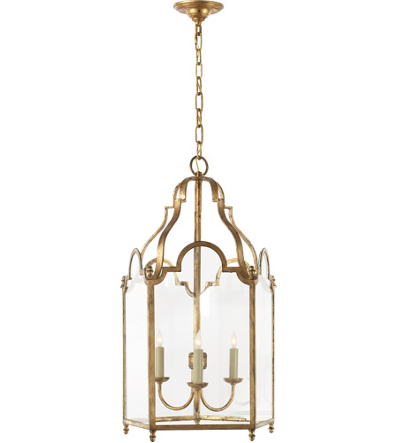Visual Comfort CHC3414GI E. F. Chapman French Market 3 Light 17 inch Gilded Iron Foyer Pendant Ceiling Light photo