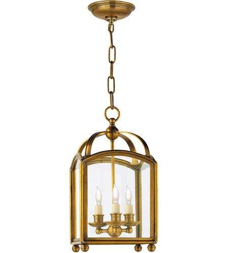 Visual Comfort CHC3420AB E. F. Chapman Arch Top 3 Light 8 inch Antique-Burnished Brass Foyer Pendant Ceiling Light photo