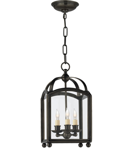 Visual Comfort CHC3420BZ E. F. Chapman Arch Top 3 Light 8 inch Bronze Foyer Pendant Ceiling Light photo