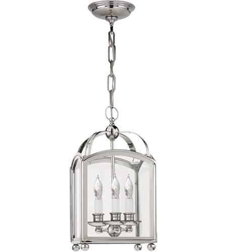 Visual Comfort CHC3420PN E. F. Chapman Arch Top 3 Light 8 inch Polished Nickel Foyer Pendant Ceiling Light photo