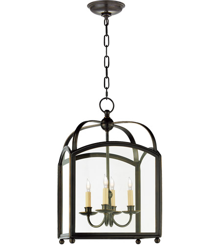 Visual Comfort CHC3421BZ E. F. Chapman Arch Top 4 Light 15 inch Bronze Foyer Pendant Ceiling Light photo