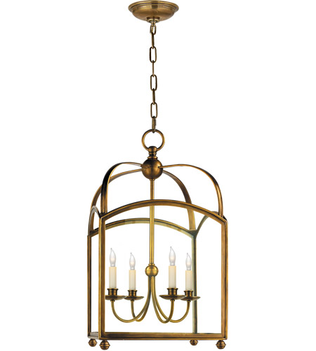 Visual Comfort CHC3422AB E. F. Chapman Arch Top 4 Light 18 inch Antique-Burnished Brass Foyer Pendant Ceiling Light photo