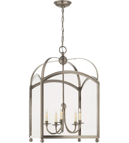 Visual Comfort CHC3425AN E. F. Chapman Arch Top 5 Light 20 inch Antique Nickel Foyer Pendant Ceiling Light photo