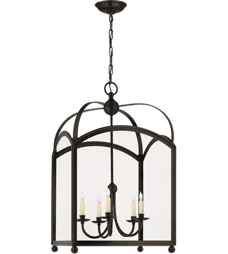Visual Comfort CHC3425BZ E. F. Chapman Arch Top 5 Light 20 inch Bronze Foyer Pendant Ceiling Light photo