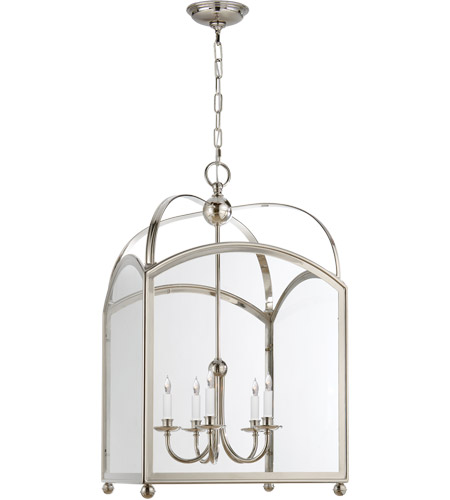 Visual Comfort CHC3425PN E. F. Chapman Arch Top 5 Light 20 inch Polished Nickel Foyer Pendant Ceiling Light photo