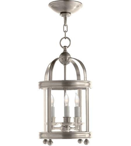 Visual Comfort Chc3426an E F Chapman Edwardian 3 Light 9 Inch Antique Nickel Foyer Pendant Ceiling