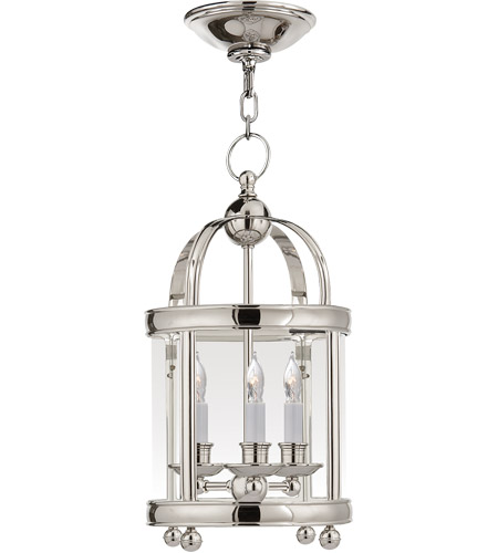 Visual Comfort CHC3426PN E. F. Chapman Edwardian 3 Light 9 inch Polished Nickel Foyer Pendant Ceiling Light photo