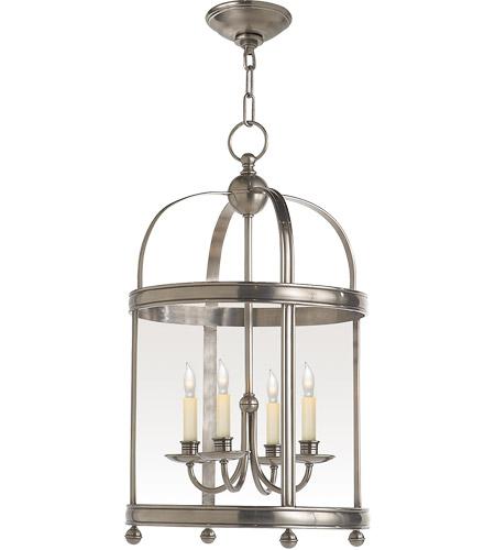 Visual Comfort CHC3427AN E. F. Chapman Edwardian 4 Light 15 inch Antique Nickel Foyer Pendant Ceiling Light photo