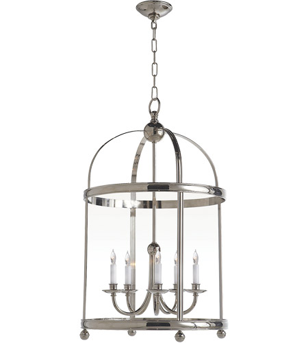 Visual Comfort CHC3428PN E. F. Chapman Edwardian 5 Light 22 inch Polished Nickel Foyer Pendant Ceiling Light photo