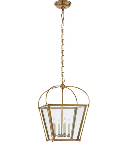 Visual Comfort CHC3438AB-CG E. F. Chapman Plantation 4 Light 14 inch Antique Burnished Brass Foyer Lantern Ceiling Light in Antique-Burnished Brass, E.F. Chapman, Small, Clear Glass photo