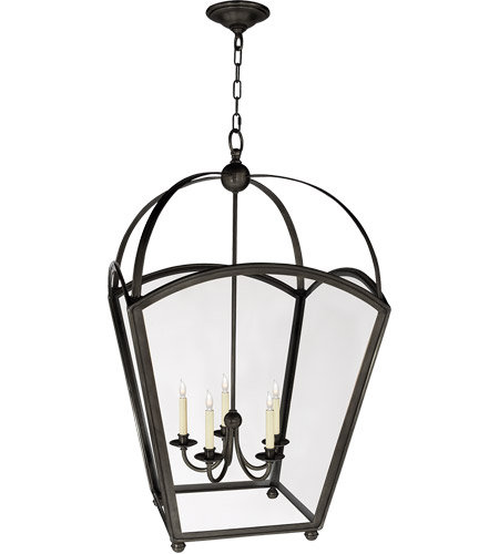 Visual Comfort CHC3441BZ E. F. Chapman Arch Top 5 Light 26 inch Bronze Foyer Pendant Ceiling Light photo