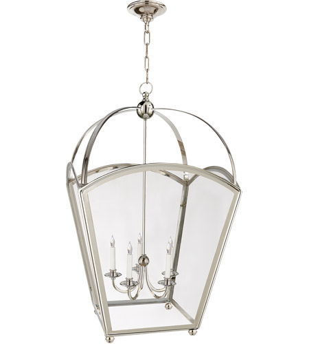 Visual Comfort CHC3441PN E. F. Chapman Arch Top 5 Light 26 inch Polished Nickel Foyer Pendant Ceiling Light photo