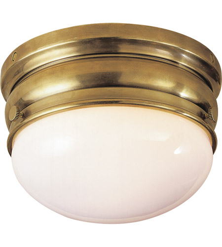 Visual Comfort CHC4201AB E. F. Chapman Crown 1 Light 7 inch Antique-Burnished Brass Flush Mount Ceiling Light photo