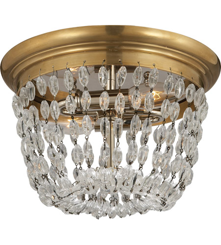 Visual Comfort CHC4206AB-SG E F Chapman Paris Flea Market 2 Light 10 inch Antique-Burnished Brass Flush Mount Ceiling Light photo