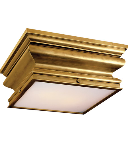 Visual Comfort CHC4215AB E. F. Chapman Square Fl 2 Light 14 inch Antique-Burnished Brass Flush Mount Ceiling Light photo