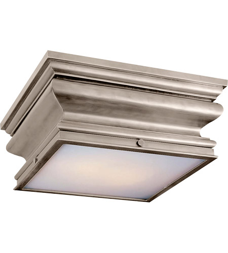 Visual Comfort CHC4215AN E. F. Chapman Square Fl 2 Light 14 inch Antique Nickel Flush Mount Ceiling Light photo