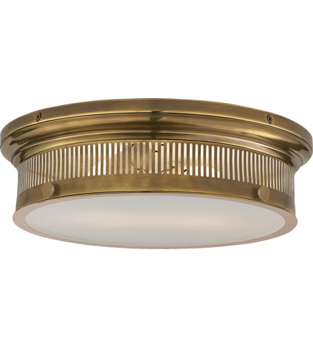 Visual Comfort CHC4392AB-WG E. F. Chapman Alderly 2 Light 16 inch Antique Burnished Brass Flush Mount Ceiling Light in Antique-Burnished Brass photo