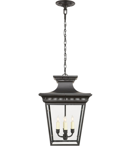 Visual Comfort CHC5050BLK E. F. Chapman Elsinore 4 Light 15 inch Hand Painted Black Foyer Pendant Ceiling Light photo