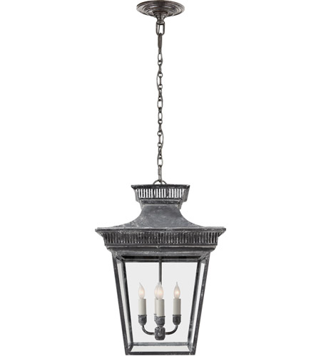 Visual Comfort CHC5050WZ E. F. Chapman Elsinore 4 Light 15 inch Weathered Zinc Foyer Pendant Ceiling Light photo