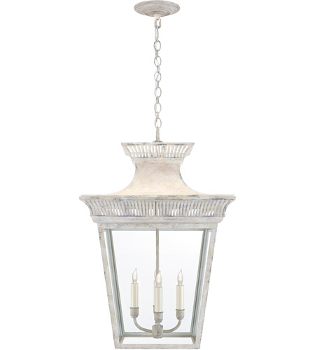 Visual Comfort CHC5051OW-CG E. F. Chapman Elsinore 4 Light 18 inch Old White Hanging Lantern Ceiling Light, Large photo