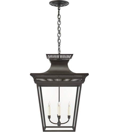 Visual Comfort CHC5052BLK-CG E. F. Chapman Elsinore 4 Light 22 inch Black Hanging Lantern Ceiling Light in Matte Black, Extra Large photo
