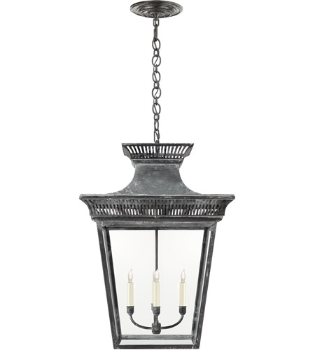Visual Comfort CHC5052WZ-CG E. F. Chapman Elsinore 4 Light 22 inch Weathered Zinc Hanging Lantern Ceiling Light, Extra Large photo