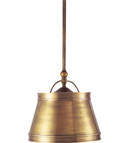 Visual Comfort CHC5101AB-AB E. F. Chapman Sloane 2 Light 16 inch Antique-Burnished Brass Hanging Shade Ceiling Light in Antique Burnished Brass, Antique Brass photo